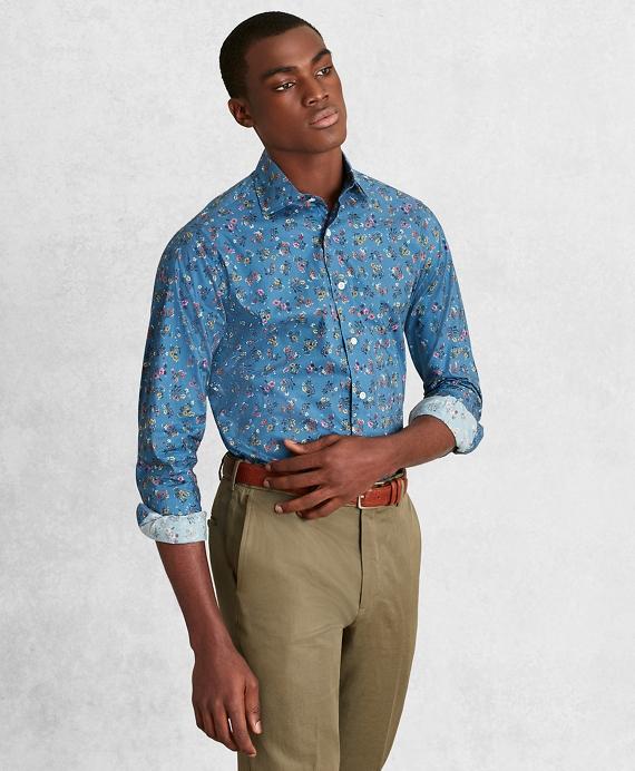 Golden Fleece® Regent Regular-Fit Sport Shirt, Blue Floral Blue