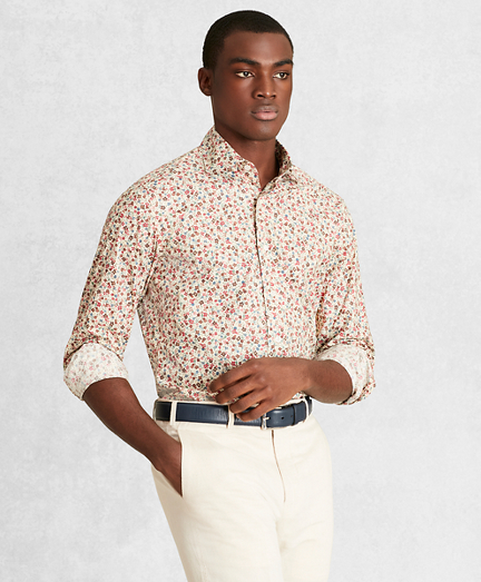 Golden Fleece® Regent Fit Multi-Color Floral Sport Shirt