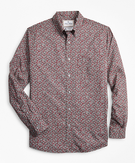 Luxury Collection Regent Fitted Sport Shirt, Button-Down Collar Floral Print