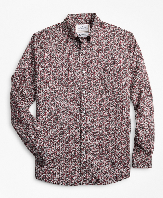 Luxury Collection Regent Fitted Sport Shirt, Button-Down Collar Floral Print Multi