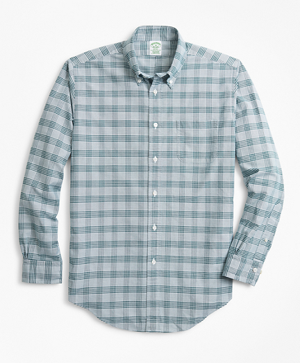 Milano Fit Oxford Glen Plaid Sport Shirt