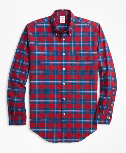 Madison Fit Oxford Bold Plaid Sport Shirt