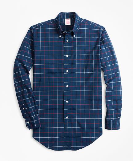 Madison Fit Oxford Windowpane Sport Shirt