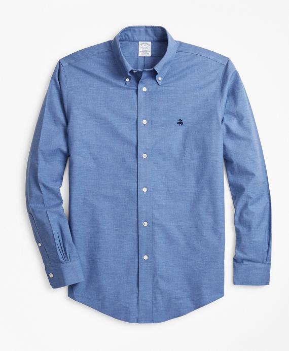 Non-Iron Regent Fit Heathered Sport Shirt Navy