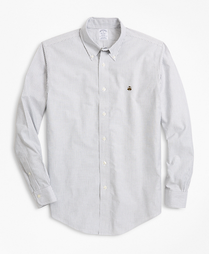 Non-Iron Regent Fit Heathered Stripe Sport Shirt