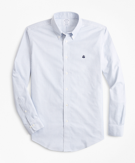 Non-Iron Regent Fit Heathered Stripe Sport Shirt