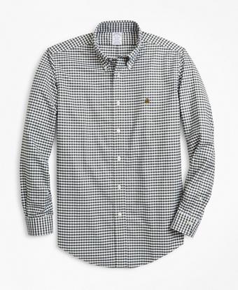 Non-Iron Regent Fit Heathered Gingham Sport Shirt