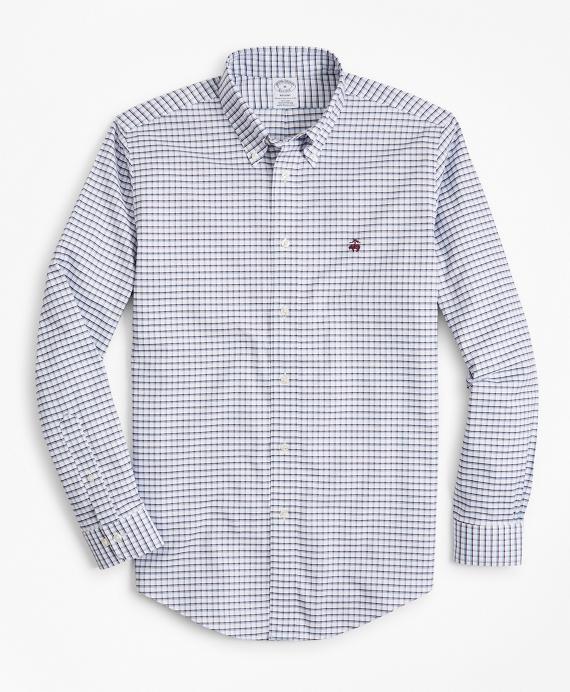 Non-Iron Regent Fit Double-Windowpane Sport Shirt Fig