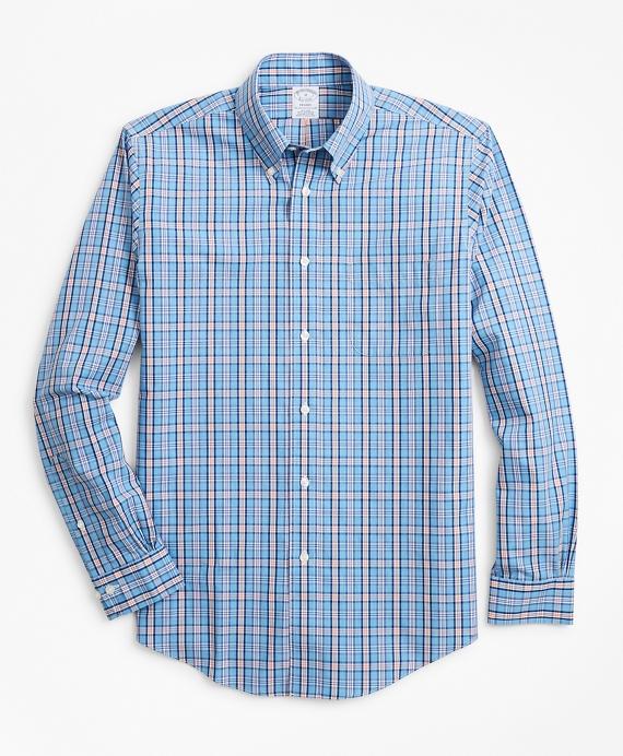 Regent Regular-Fit Sport Shirt, Non-Iron Heathered Check Blue