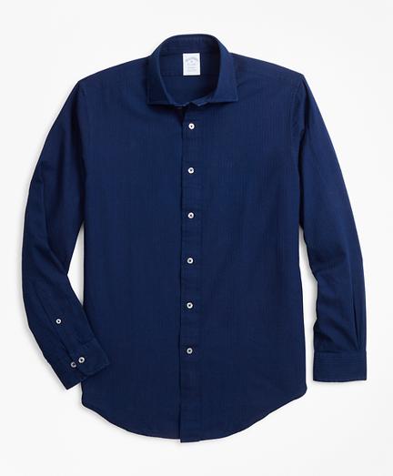 Regent Fit Indigo Dobby Stripe Sport Shirt