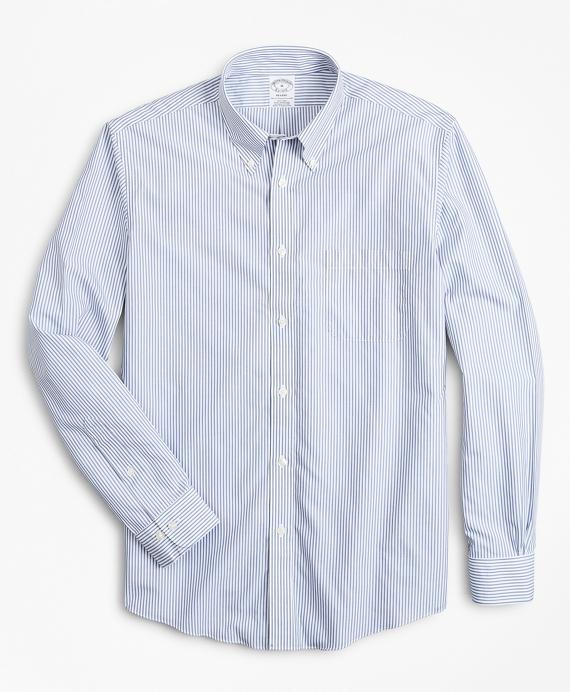 Non-Iron Regent Fit Bengal Stripe Sport Shirt Blue