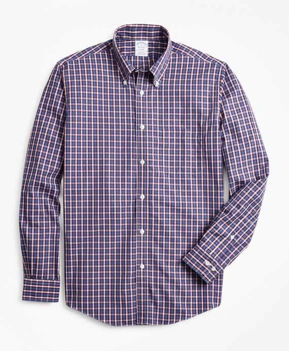 Regent Regular-Fit Sport Shirt, Non-Iron Check Navy