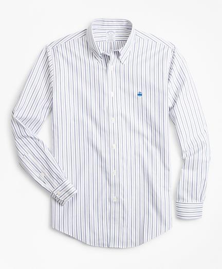 Non-Iron Regent Fit Stripe Dobby Sport Shirt