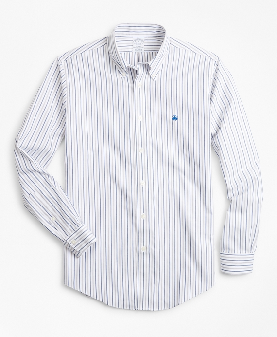 Non-Iron Regent Fit Stripe Dobby Sport Shirt Fig