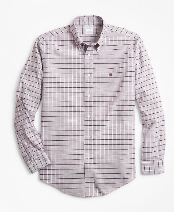 Non-Iron Regent Fit Windowpane Slub Oxford Sport Shirt Fig