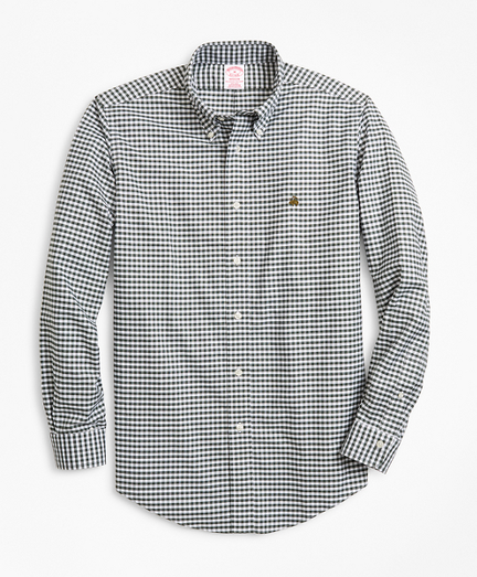 Non-Iron Madison Fit Heathered Gingham Sport Shirt