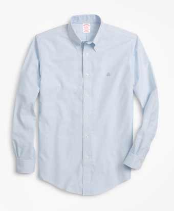 Non-Iron Madison Fit Heathered Stripe Sport Shirt