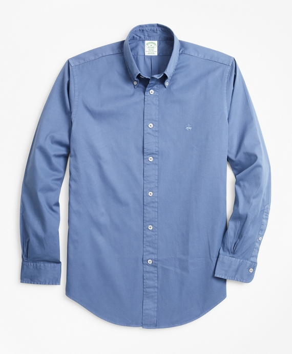Milano Fit Garment-Dyed Twill Sport Shirt Marlin Blue