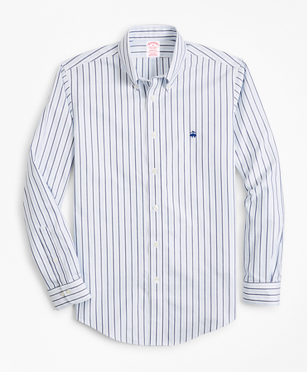Non-Iron Madison Fit Stripe Dobby Sport Shirt