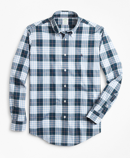 Milano Fit Navy Plaid Zephyr Sport Shirt