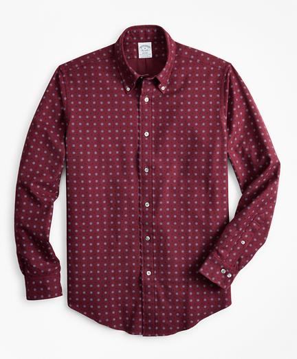 Brooksbrothers Regent Fit Foulard Print Flannel Sport Shirt