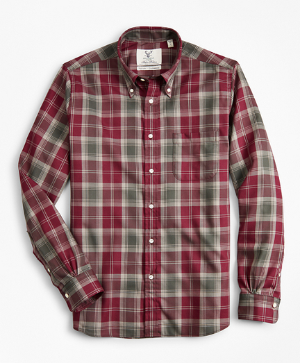 Regent Fit Braemar™ Ancient Madder Tartan Sport Shirt