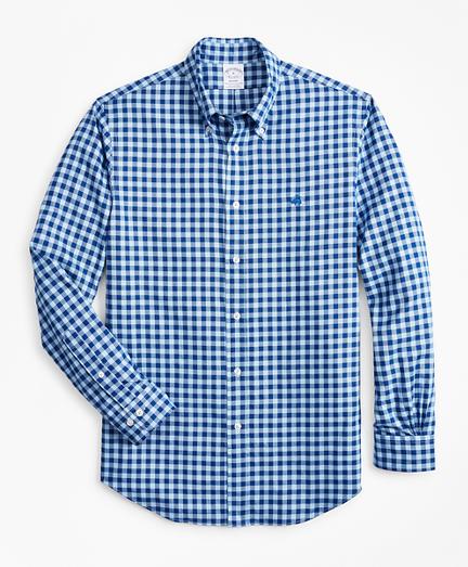 Regent Fit Brushed Gingham Sport Shirt