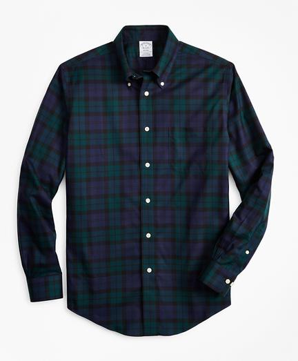 Non-Iron Regent Fit Black Watch Tartan Sport Shirt
