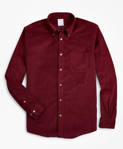 Regent Fit Garment-Dyed Corduroy Sport Shirt