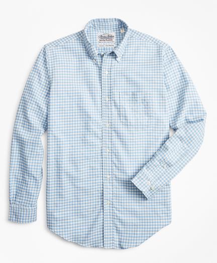 Regent Fit Gingham Flannel Sport Shirt