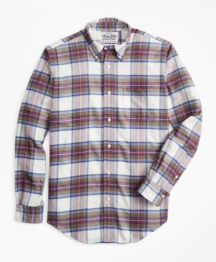 Regent Fit Tartan Flannel Sport Shirt