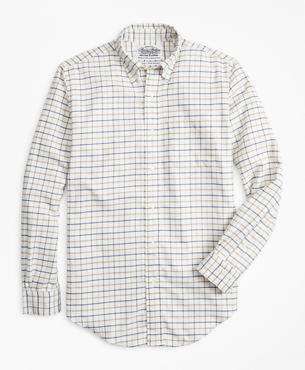 Regent Fit Windowpane Flannel Sport Shirt
