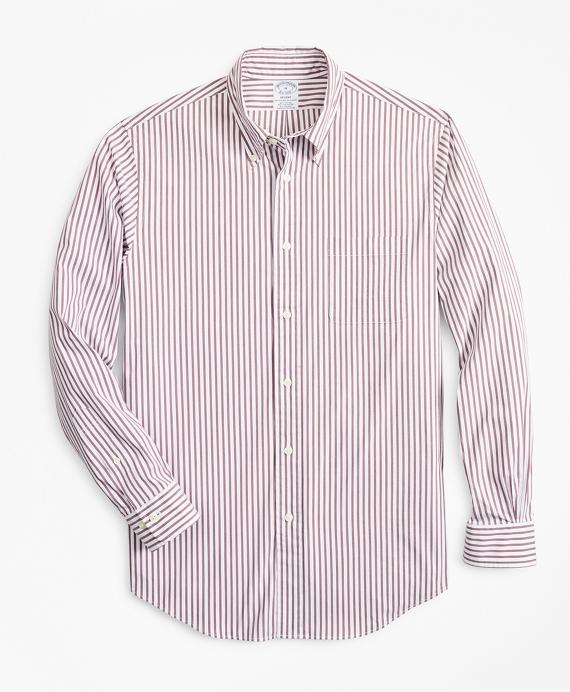 Performance Series Regent Regular-Fit Sport Shirt, COOLMAX® Poplin Striped Wine
