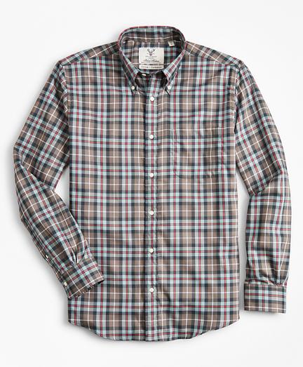 Madison Fit Braemar™ Ancient Madder Tartan Sport Shirt