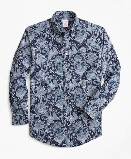 Madison Fit Paisley Flannel Sport Shirt