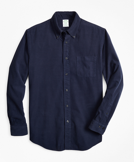 Milano Fit Garment-Dyed Corduroy Sport Shirt