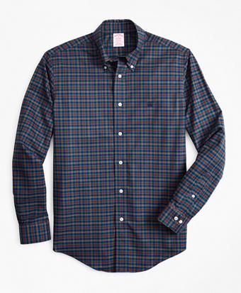Non-Iron Madison Fit Tartan Sport Shirt