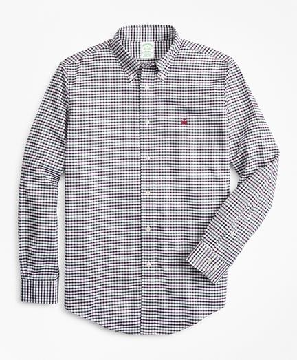 Non-Iron Milano Fit Windowpane Sport Shirt