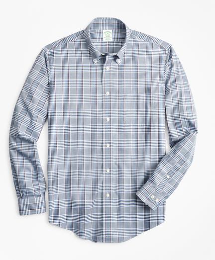 Non-Iron Milano Fit Glen Plaid Sport Shirt