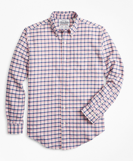 Madison Fit Check Flannel Sport Shirt