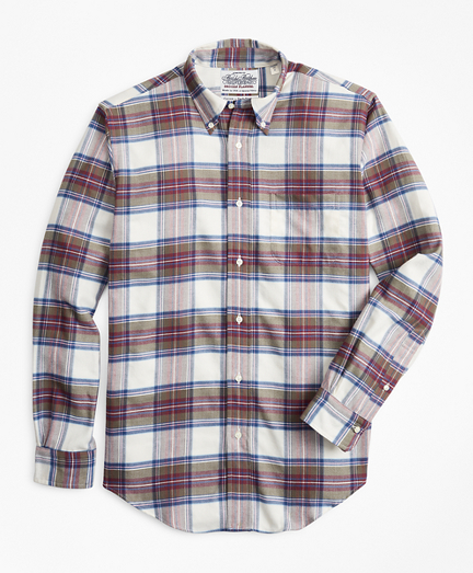 Madison Fit Tartan Flannel Sport Shirt