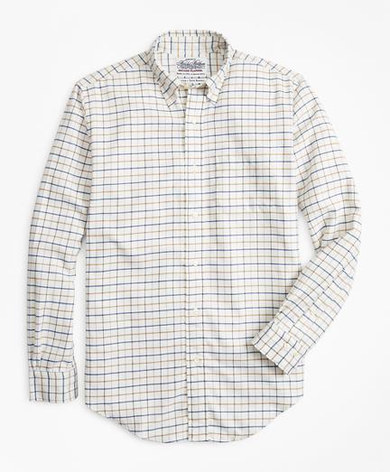 Madison Fit Windowpane Flannel Sport Shirt