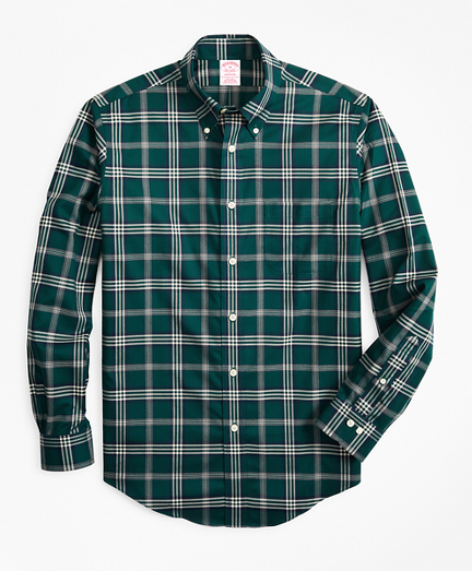 Non-Iron Madison Fit Signature Tartan Sport Shirt