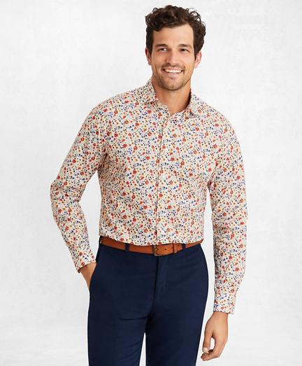 Golden Fleece® Regent Fit Multi-Floral Sport Shirt
