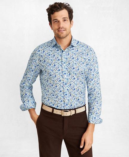Golden Fleece® Regent Regular-Fit Sport Shirt, Light-Blue Floral