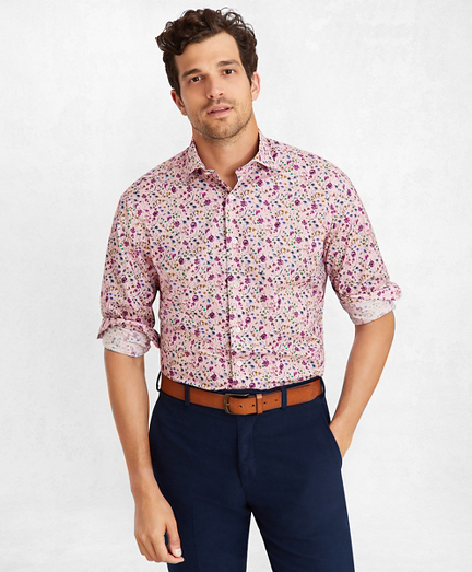 Golden Fleece® Regent Fit Pink Floral Sport Shirt