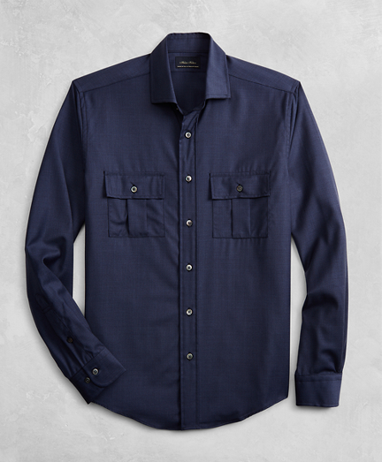 Golden Fleece® BrooksTech™ Two-Pocket Wool Sport Shirt