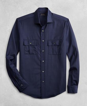Golden Fleece® BrooksTech™ Two-Pocket Wool Sport Shirt