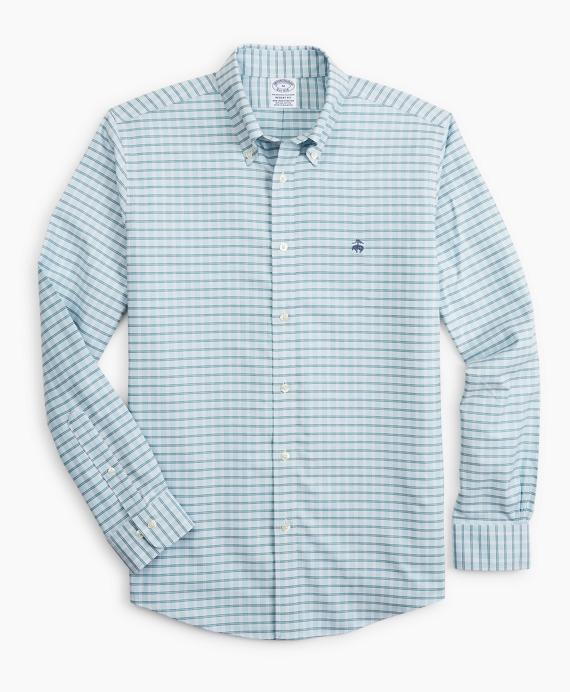 Stretch Regent Regular-Fit  Sport Shirt, Non-Iron Check Blue