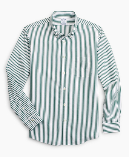 Stretch Regent Fitted Sport Shirt, Non-Iron Candy Stripe